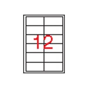 APLI 2 pályás etikett, 97 x 42,4 mm, 300 etikett/csomag