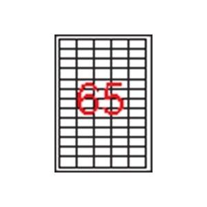 APLI 5 pályás etikett, 38 x 21,2 mm, 1625 etikett/csomag