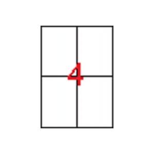 APLI 2 pályás etikett, 105 x 148 mm, 100 etikett/csomag