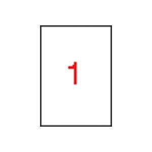 APLI 1 pályás etikett, 210x297 mm, eltávolítható, 100 etikett/csomag
