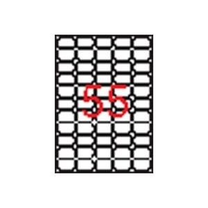 APLI 5 pályás etikett, 36,8x23,8 mm, eltávolítható, kerekített sarkú, 5500 etikett/csomag