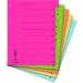 DONAU karton elválasztó lapok, mikroperforált, A4, vegyes színek