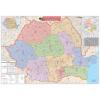 Stiefel Eurocart Kft. Románia irányítószámos térképe, tűzhető, keretes