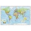 Stiefel Föld országai fémléces térkép, 140x100 cm
