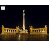 Stiefel Eurocart Kft. Hősök tere tányéralátét könyöklő   hátoldalon Budapest belváros térképe tányér és evőeszköz