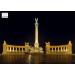 Stiefel Eurocart Kft. Hősök tere tányéralátét könyöklő   hátoldalon Budapest belváros térképe