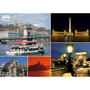 Stiefel Eurocart Kft. Budapest képekben tányéralátét könyöklő hátoldalon Budapest belváros térképe