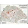 Stiefel Eurocart Kft. Nationality Map of The Historical Hungary térkép fakeretben