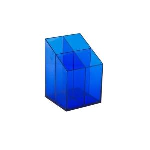 ICO szögletes írószertartó transzparens kék