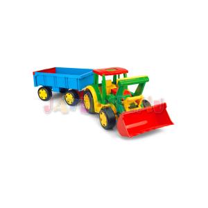 Wader : Óriás traktor utánfutóval és tolólappal