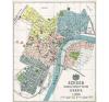 Stiefel Eurocart Kft. Szeged Szabad Királyi város térképe fakeretben térkép