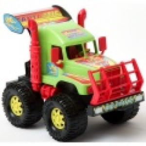 Magyar Gyártó Kobra darus kamion F1-es autóval 54cm-es - Formex