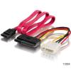 Equip SATA táp és adatkábel 15/50cm