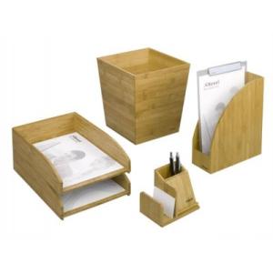 REXEL Bamboo írószertartó + jegyzettömb tartó