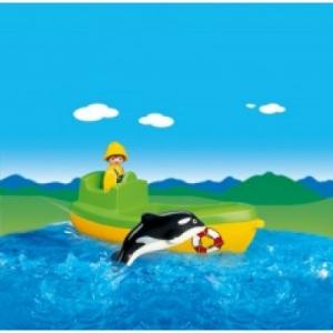 Playmobil Halászhajó kardszárnyú delfinnel - 6739
