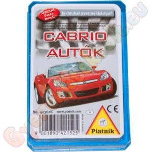 Piatnik Cabriolet autók kártyajáték
