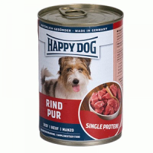 Happy Dog Fleisch pur konzerv 400 g marha