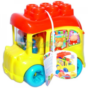 Clementoni Clemmy iskolabusz építőkockákkal