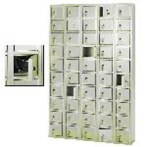 50 rekeszes értékmegőrző szekrény cilinder zárral