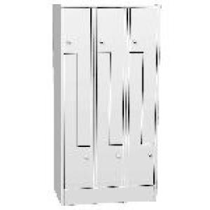 """K730/3 6-ajtós öltözőszekrény lábazattal, """" Z"""" alakú ajtókkal"""