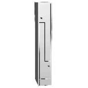 """K730/1 2-ajtós öltözőszekrény lábazattal, """" Z"""" alakú ajtókkal"""