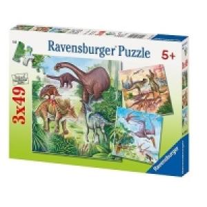 Ravensbruger Dinoszaurusz 3x49 db