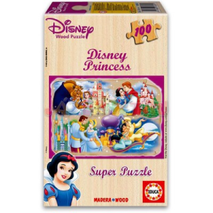 Disney Disney hercegnők 100 db-os fa puzzle