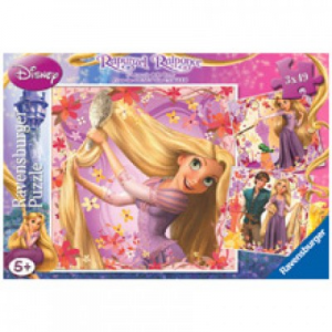 Ravensburger Rapunzel Puzzle 3x49 db
