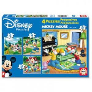 Educa Mickey Egér 4 az 1-ben puzzle