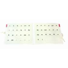 Betűtartó papír - gumis betű és számtan eszköz
