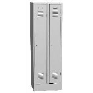K2438 VM 2-ajtós öltözőszekrény, lábazattal, elválasztó fallal