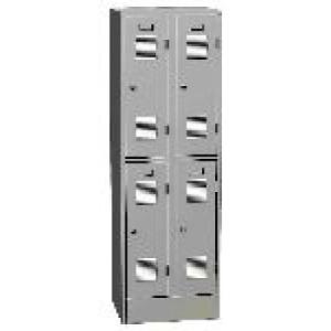 K2469/600 A 4-ajtós öltözőszekrény lábazattal (rövid ajtós)