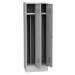 K2470/ VM 2-ajtós öltözőszekrény, lábazattal, elválasztó fallal