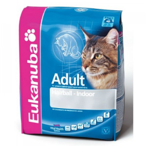 Eukanuba Cat Adult Hairball-Indoor 400 g