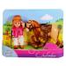 Simba Toys Steffi Love - Évi Baba Zsokéruhában - világosbarna lóval - Simba Toys