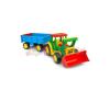 Wader: Óriás traktor utánfutóval és tolólappal tili toli