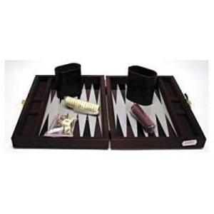 Gém Backgammon 23x17 cm, barna műbőr - 604067