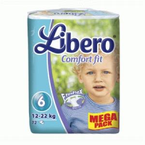 Libero Comfort Fit Extra Large pelenka mega pack 72 db (12-22 kg)