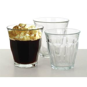 Retro kávés üvegpohár, közepes, 22 cl
