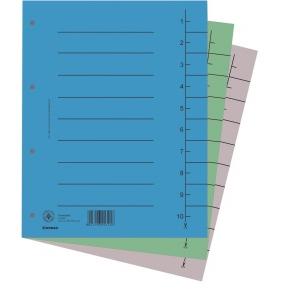 DONAU Karton elválasztó lapok A4 zöld