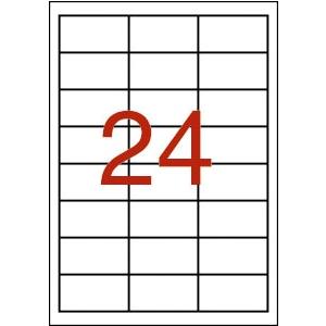 APLI 3 pályás időjárásálló etikett, 64,6 x 33,8 mm, fe hér, 480 etikett/cso