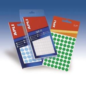 APLI Körcímke, 25 mm átmérő, kézzel írható, fehér, 240 etikett/csomag