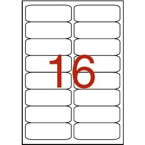 APLI 2 pályás etikett, 99,1 x 34 mm, kerekített sarkú,  1600 etikett/csomag