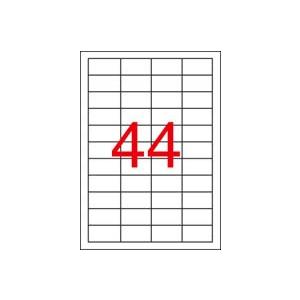 APLI 4 pályás etikett, 48,5 x 25,4 mm, eltávolítható, 4400 etikett/csomag