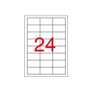 APLI 3 pályás etikett, 64,6 x 33,8 mm, eltávolítható, 2400 etikett/csomag