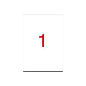 APLI Piros etikett, 210 x 297 mm, 100 etikett/csomag