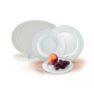 ROTBERG Basic desszertes tányér, fehér porcelán, 19 cm át mérő