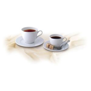 ROTBERG Basic kávéskészlet, fehér porcelán, 22 cl