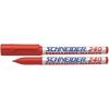 SCHNEIDER 240 alkoholos marker, 1-2 mm, piros, kúpos