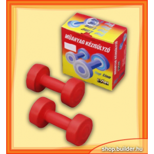 Egyéb sportszer Műanyag kézisúlyzó 1kg - pár